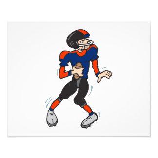 quarterback football player cartoon 11.5 cm x 14 cm flyer