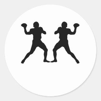 Quarterback Mirror Image Stickers
