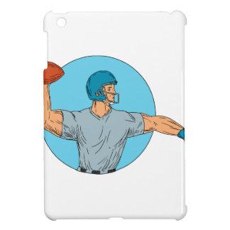 Quarterback QB Throwing Ball Motion Circle Drawing iPad Mini Cases