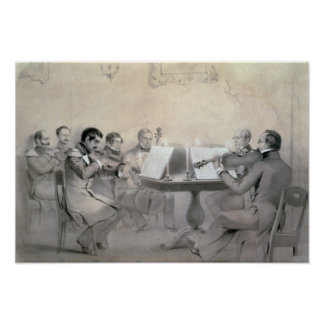 Quartet of the Composer Count A. F. Lvov, 1840 Poster