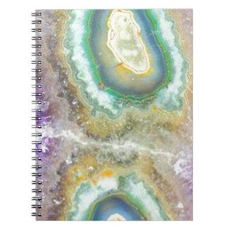 Quartz Candy Crystals Spiral Notebook