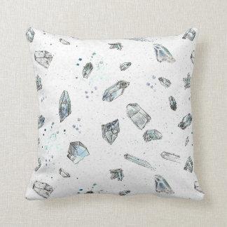 Quartz Crystals Rocks Geology Illustration Cushion
