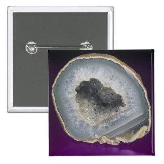 Quartz Geode Cut Open 15 Cm Square Badge