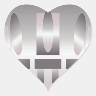 quartz shades meeting heart sticker