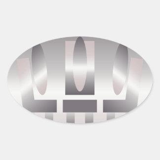 quartz shades meeting oval sticker