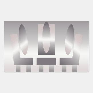 quartz shades meeting rectangular sticker