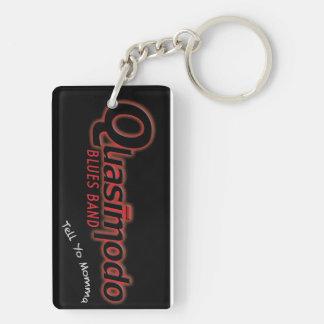 Quasimodo Blues Band - Key Ring Double-Sided Rectangular Acrylic Key Ring
