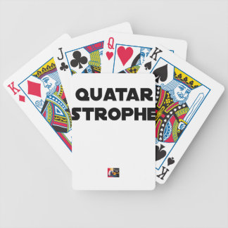 QUATAR STANZA - Word games - François City Bicycle Playing Cards