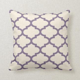 Quatrefoil Aubergine Inverted Cushion