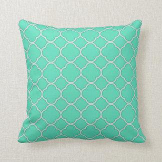 Quatrefoil Beach Color Palette Decorative Pillow