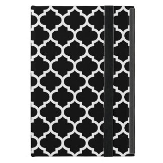 Quatrefoil Black and White Case For iPad Mini