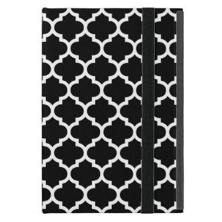 Quatrefoil Black and White Case For iPad Mini