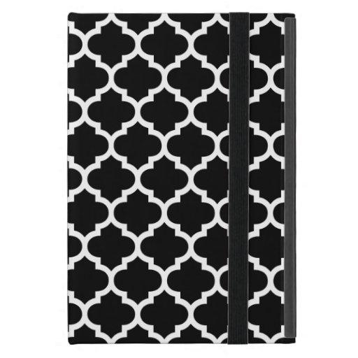 Quatrefoil Black and White iPad Mini Cases