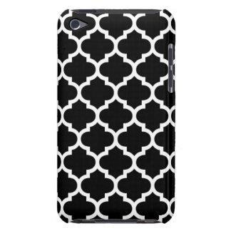 Quatrefoil Black and White iPod Touch Case-Mate Case