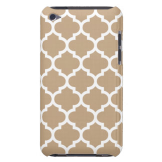 Quatrefoil Camel Brown Barely There iPod Cases