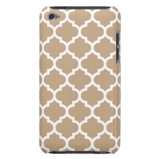 Quatrefoil Camel Brown Barely There iPod Covers