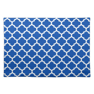 Quatrefoil Cobalt Blue Placemat
