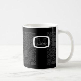 Quatrefoil Damask Coffee Mug