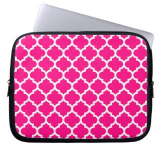 Quatrefoil Hot Pink Laptop Sleeve