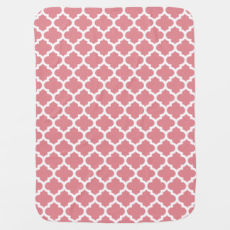 Quatrefoil Lattice Trellis Pattern Any Color Baby Blanket