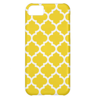 Quatrefoil Lemon Yellow iPhone 5C Case