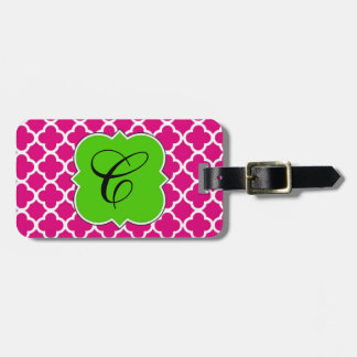 Quatrefoil Luggage Tag