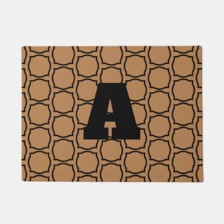 quatrefoil monogram doormat
