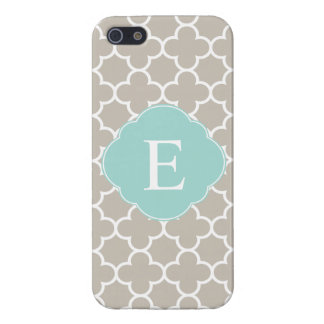 Quatrefoil Monogram Tan Mint Case For iPhone 5/5S