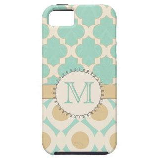 Quatrefoil MonogramiPhone 5  Case Mally Mac