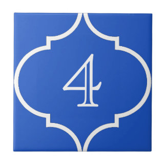 quatrefoil Moroccan number tile