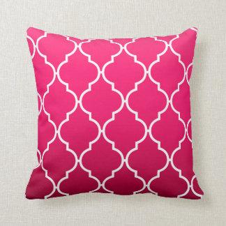 Quatrefoil Ombre Geometric   fuschia Cushion