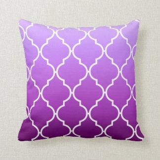 Quatrefoil Ombre Geometric | purple Pillow