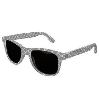Quatrefoil Pattern Adult Retro Sunglasses
