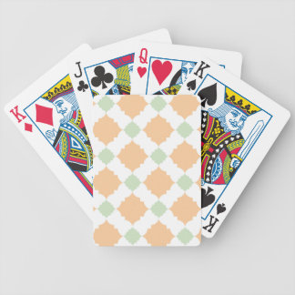 Quatrefoil pattern bicycle playing cards