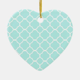 Quatrefoil Pattern Design Ceramic Heart Decoration
