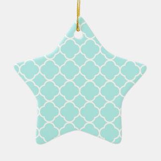 Quatrefoil Pattern Design Ceramic Star Decoration