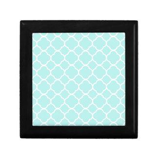 Quatrefoil Pattern Design Small Square Gift Box