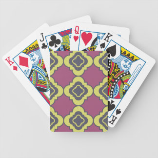 Quatrefoil pattern III Bicycle Playing Cards