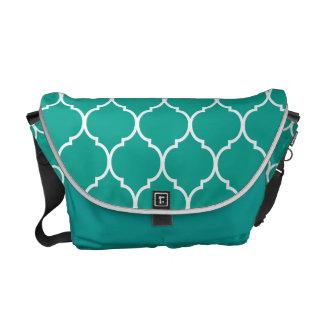 Quatrefoil Pattern Courier Bag