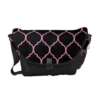 Quatrefoil Pattern Courier Bags