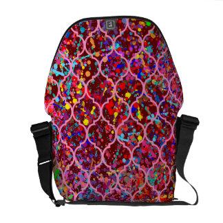Quatrefoil Pattern Messenger Bags
