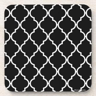 Quatrefoil Pattern Plastic Coaster Set