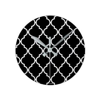 Quatrefoil Pattern Round Clock
