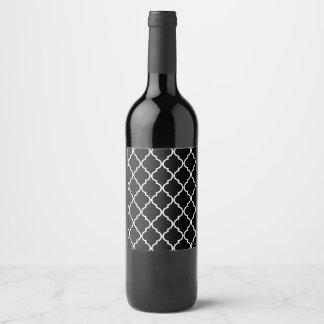 Quatrefoil Pattern Wine/Champagne Bottle Label