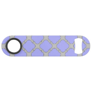 Quatrefoil periwinkle and gray
