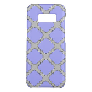 Quatrefoil periwinkle and gray Case-Mate samsung galaxy s8 case