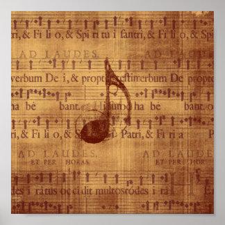 Quaver/Musical Note Poster