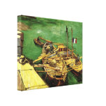 Quay with Men Unloading Sand Barges by van Gogh Stretched Canvas Prints