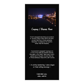 Quayside View at Night Rack Cards