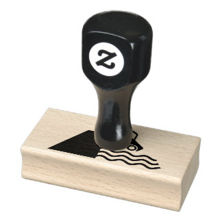 Quayside Warning Sign Icon Rubber Stamp